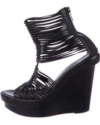 Ann Demeulemeester - Cage Wedge Sandals - Lyst