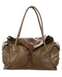 Henry Beguelin - Textured Leather Bag Olive - Lyst
