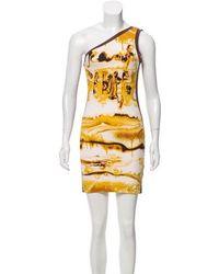 Jean Paul Gaultier - One-shoulder Mini Dress Brown - Lyst