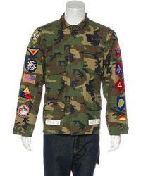 a694e364778d Off-White c o Virgil Abloh - 2017 Camouflage Patch-appliqué Jacket -