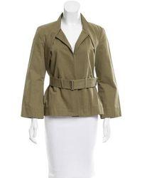 SUNO - Belted Lightweight Jacket Green - Lyst