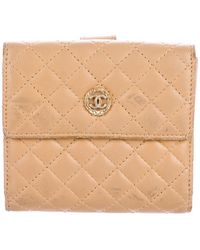 Chanel - Cc Compact Wallet Gold - Lyst