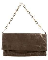 Robert Clergerie - Leather Clutch Bronze - Lyst