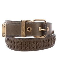 Proenza Schouler - Leather Woven Belt Gold - Lyst