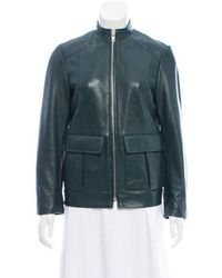 Ganni - Collarless Zip-up Jacket - Lyst
