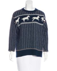 Band of Outsiders - Wool-blend Sweater Navy - Lyst