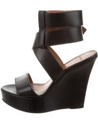 Givenchy - Leather Wedge Sandals - Lyst