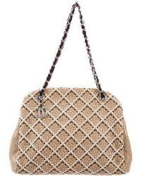 9e05dff6b6f1 Chanel - Just Mademoiselle Stitch Bowler Bag Beige - Lyst