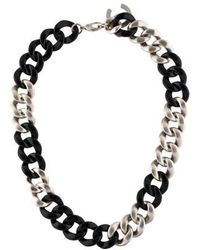 Chanel - Cc Curb Chain Necklace Silver - Lyst
