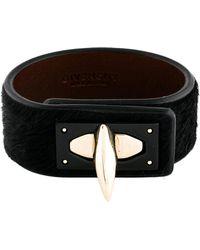 Givenchy - Ponyhair Sharktooth Bracelet Black - Lyst