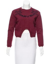 Carven - Embroidered Logo Sweatshirt - Lyst