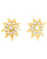 Christian Lacroix - Crystal Star Clip-on Earrings Gold - Lyst
