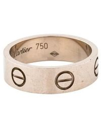 Cartier - Love Ring White - Lyst