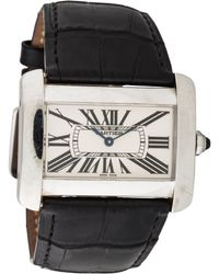 Cartier - Tank Divan Watch Silver - Lyst