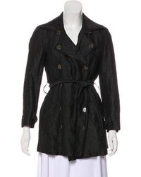 Gryphon - Double-breasted Belted Coat - Lyst