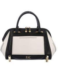 Zac Posen - Colorblock Leather Satchel Black - Lyst