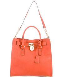 c9fd629cf2a5 MICHAEL Michael Kors - Michael Kors Hamilton Leather Bag Orange - Lyst