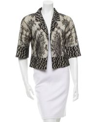 Alessandro Dell'acqua - Lace Open Front Jacket - Lyst