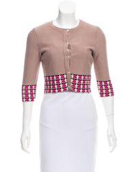 Issa - Crop Knit Cardigan Neutrals - Lyst