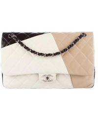 e77cf94efcf1 Lyst - Chanel Caviar Classic Jumbo Double Flap Bag Black in Metallic