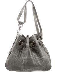Dior - Cannage Leather Bag Grey - Lyst