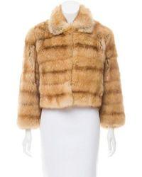 Pologeorgis - Sable Fur Jacket Brown - Lyst