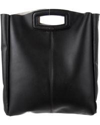 Maje - Grained Leather Satchel Black - Lyst