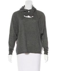 Stella McCartney - Hooded Cashmere-blend Sweater Grey - Lyst