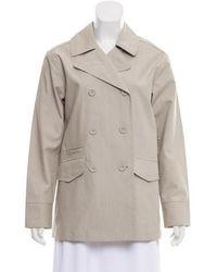 Adam Lippes - Short Trench Coat W/ Tags Grey - Lyst