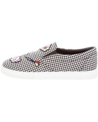 Mira Mikati - Houndstooth Slip-on Sneakers - Lyst