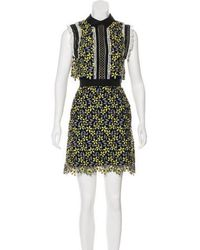 Self-Portrait - Sleeveless Mini Dress Navy - Lyst