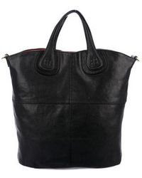 Lyst - Givenchy Nightingale Leather Tote Black in Metallic 3b63a07219933