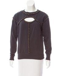 Isabel Marant - Embellished Cutout Sweatshirt Blue - Lyst