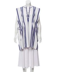 Étoile Isabel Marant - Denize V-neck Striped Cotton Poncho Dress - Lyst