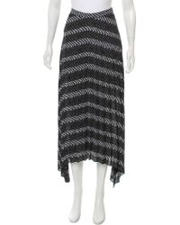 Tess Giberson - Pleat-accented Midi Skirt W/ Tags Black - Lyst