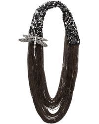 Vera Wang - Crystal Dragonfly Chain Necklace - Lyst