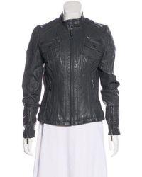 MICHAEL Michael Kors - Michael Kors Casual Leather Jacket Grey - Lyst
