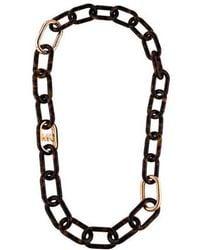 MICHAEL Michael Kors - Michael Kors Tortoise Link Necklace Rose - Lyst