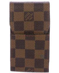Louis Vuitton - Damier Ebene Cigarette Case - Lyst