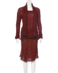 Chanel - Vintage 3-piece Skirt Set Terracotta - Lyst
