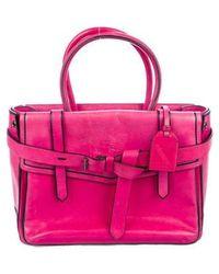Reed Krakoff - Leather Boxer Bag Fuchsia - Lyst