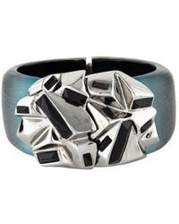 Alexis Bittar - Geometric Lucite Bangle Gold - Lyst