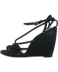 Pierre Hardy - Suede Wedge Sandals - Lyst