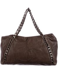 Chanel - Luxe Ligne Tote Brown - Lyst