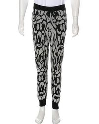 Baja East - Patterned Knit Joggers Black - Lyst