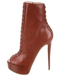 Ruthie Davis - Cara Lace-up Ankle Boots W/ Tags Rose - Lyst