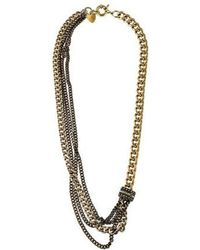 Giles & Brother - Crystal Chaton Bead Multistrand Necklace Gold - Lyst