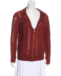 adidas Originals - Distressed Cable Knit Cardigan W/ Tags - Lyst