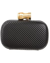Sarah's Bag - Quilted Leather Clutch Black - Lyst