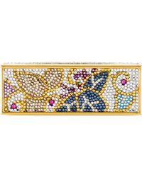 Judith Leiber - Embellished Lipstick Case Gold - Lyst